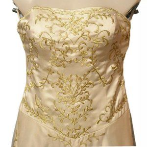 Cream with gold embroidery wedding dress size 12
